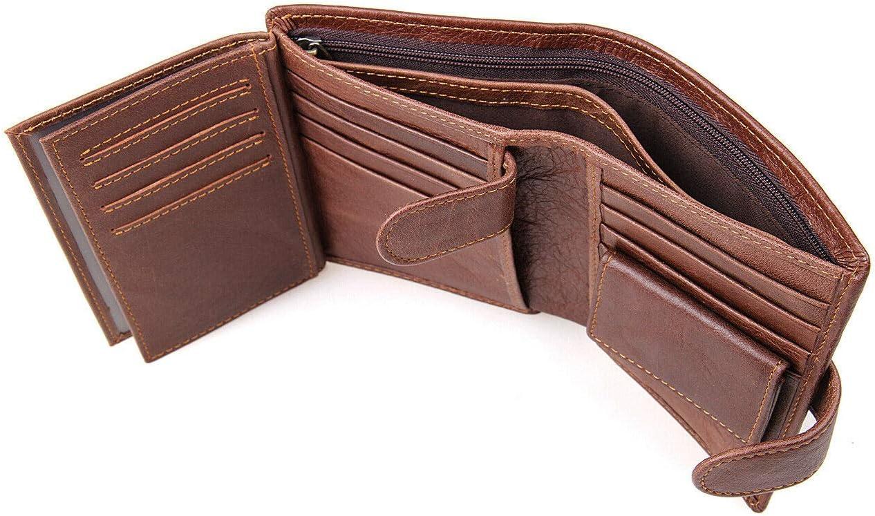 Slim RFID Blocking Mens Gunine Leather Wallet with Money Clip