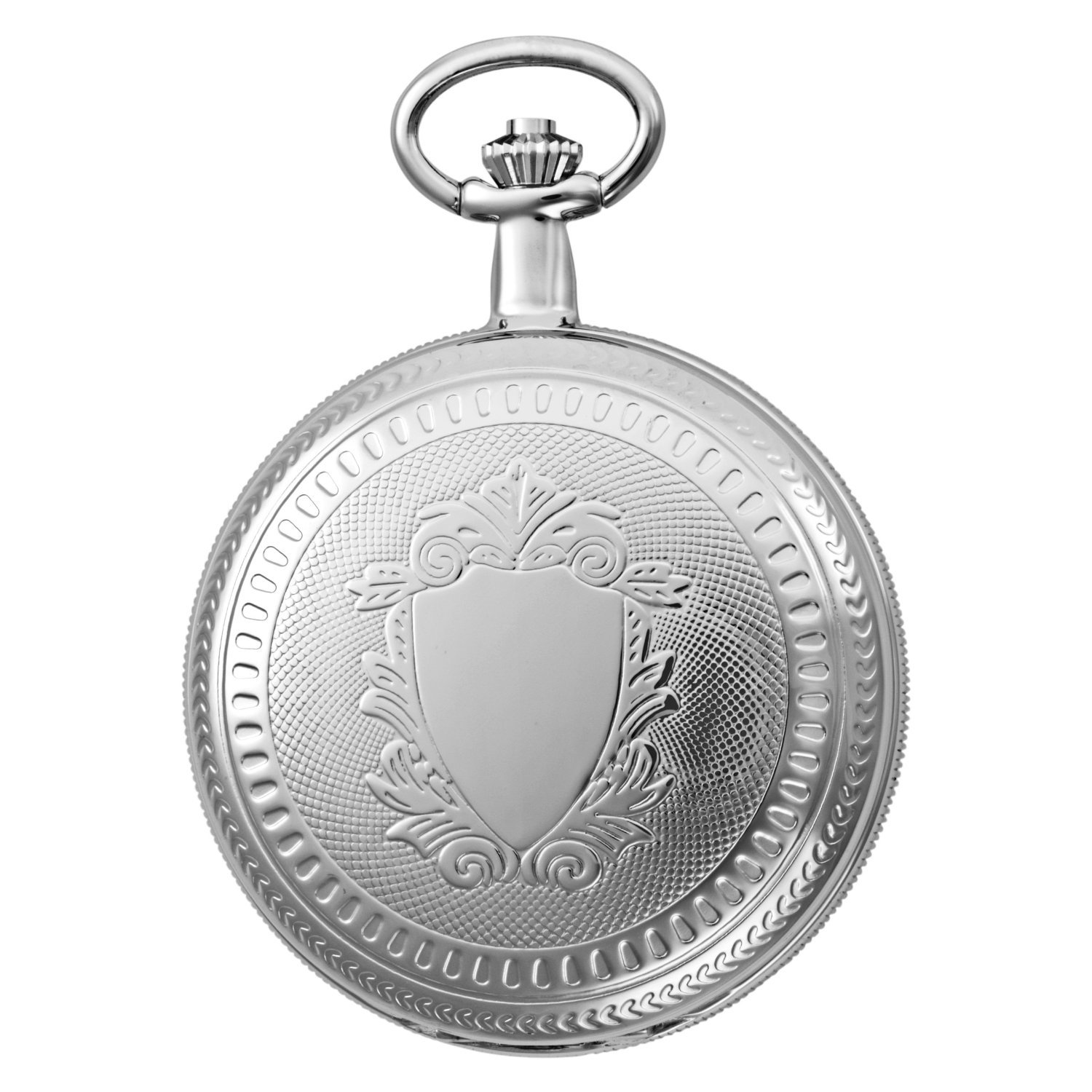 Gotham Men's Silver-Tone Mechanical Pocket Watch with Desktop Stand # GWC14051S-ST by Gotham (Image #2)