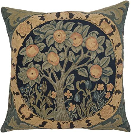 Orange Tree Iii By William Morris Perfect Decorative Colorful Cotton Cushion Cover Woven In Belgium European Art Design Tapestry Cushion Pillow Case For Sofa Couch Home Kitchen Amazon Com