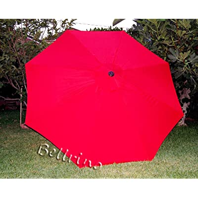 BELLRINO DECOR Replacement Sunset RED Strong & Thick Umbrella Canopy for 9ft 8 Ribs Sunset RED (Canopy Only) : Garden & Outdoor