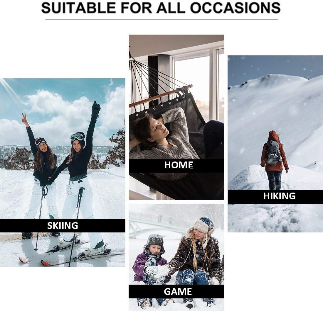Litthing Damen Thermo Funktionsunterw/äsche Set Funktionsshirt und Funktionshose f/ür Workout Skifahren Laufen Wandern