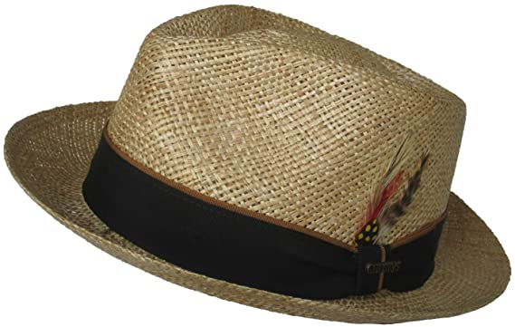 3e0892c76e2 Christys MADE IN USA Bao Straw Fedora Low Profile Classic C Crown at Amazon  Men s Clothing store