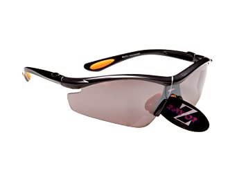Rayzor Professional Lightweight UV400 GunMetal Grey Sports Wrap Cycling Sungl... 7SSsKGX