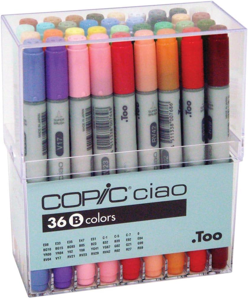 Copic I36-B - Pack de 36 marcadores, set B