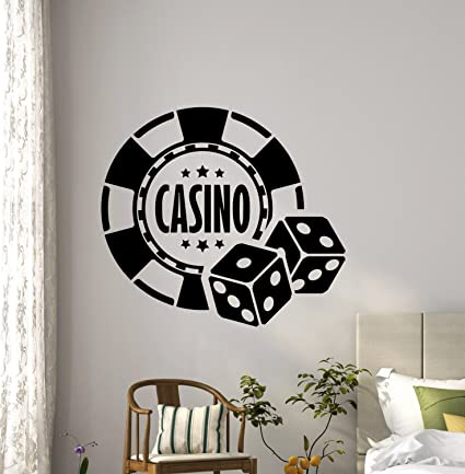 Amazon.com: ResorDecals Casino Wall Decal Play Cards Dice ...