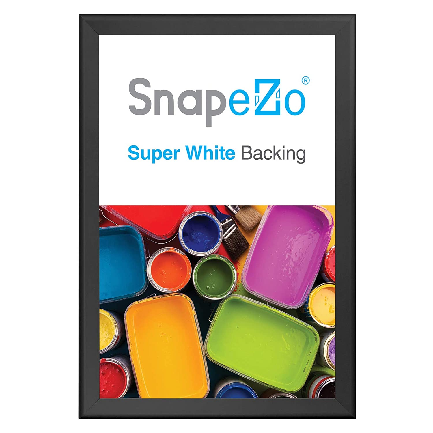 """SnapeZo Movie Poster Frame 27x41 Inches, Black 1.7"""" Aluminum Profile, Front-Loading Snap Frame, Wall Mounting, Wide Series"""