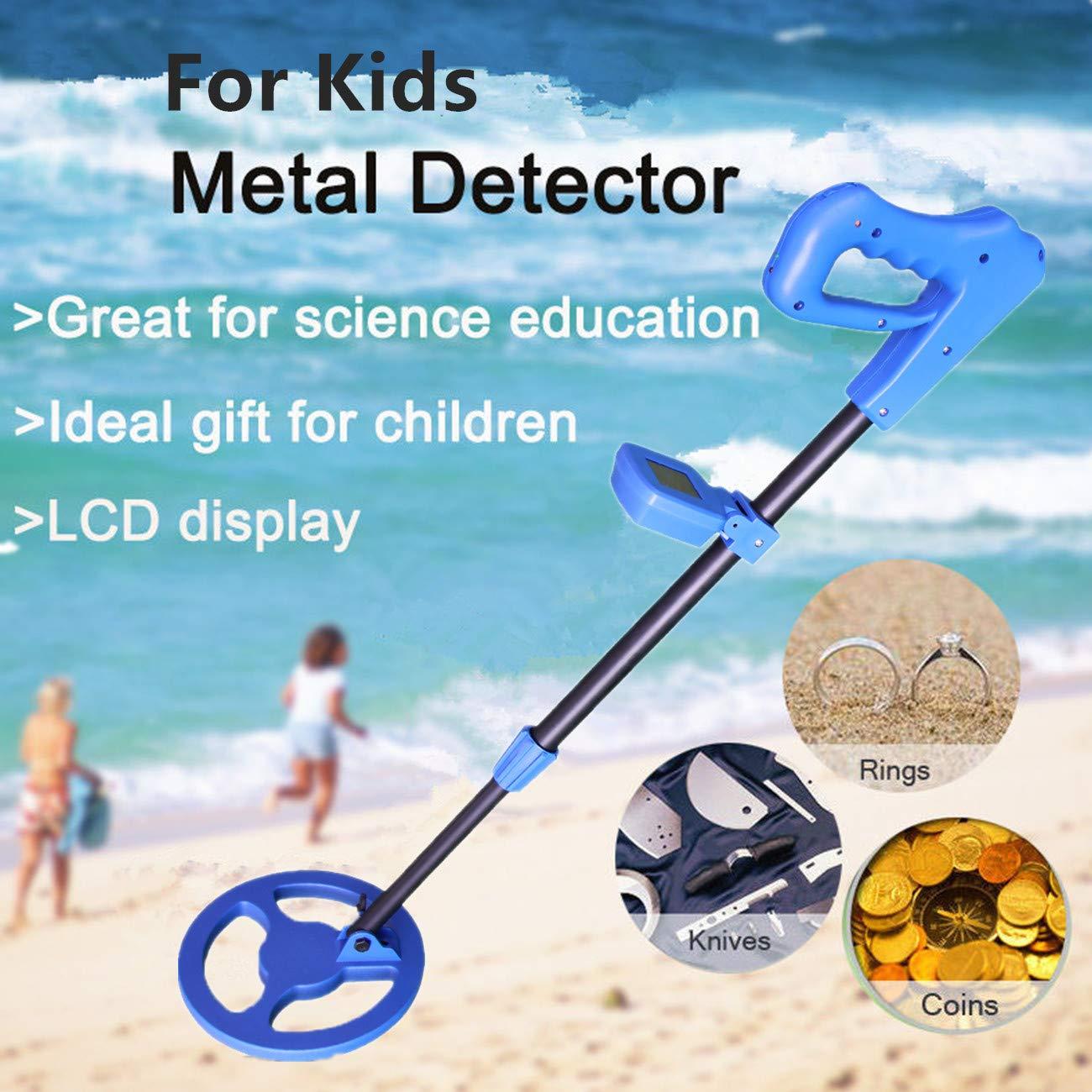 TIANG Detector de Metales Kids, detectores de Metales portátiles e Impermeables para niños con Alta sensibilidad, Pantalla LCD y Alerta de Sonido/Easy to ...
