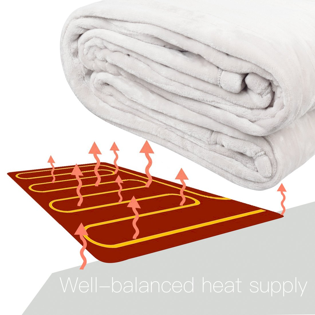 amazon com queen size heated mattress pad 100 luxurious supersoft