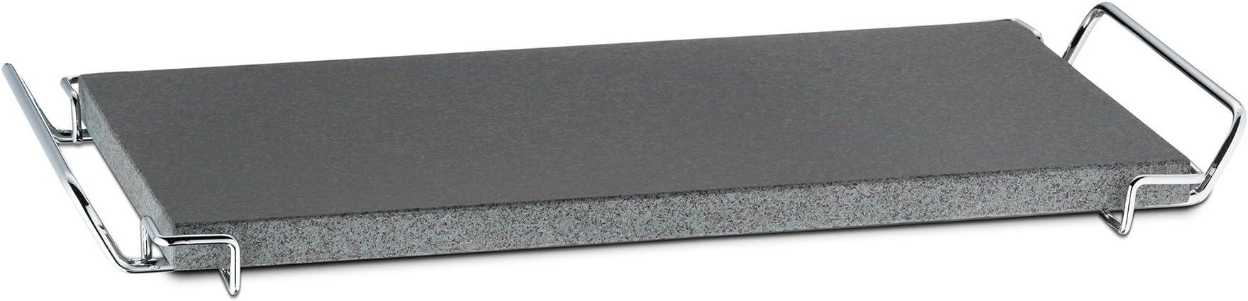 kela 16646 Piedra con hornillo, 6 Piezas, Granito Piedra, 51 x 22,5 cm, para Ca 4 Personas, Metal/Cromado, Gusto