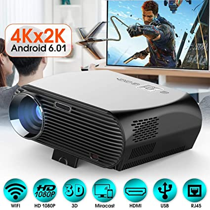 Amazon.com: Projector, HD Home Theater Wireless Projector ...