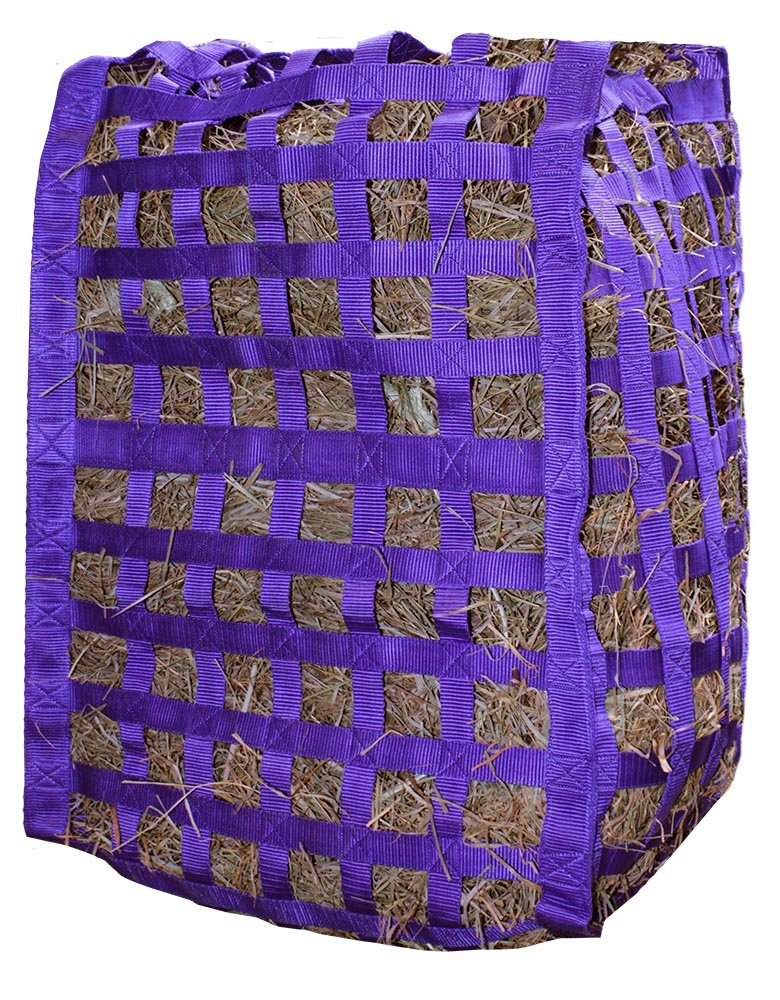 Derby Originals Natural Grazer Slow Feed Hay Bag Patented with Warranty, 18'' x 19'' x 26'', Purple