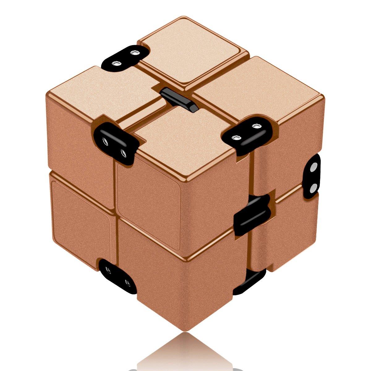 Funxim Infinity Cube, Unendlicher Würfel Spielzeug, Magic Unendlicher Flip Würfel Dekompression Spielzeug, Tötungs Zeit Zappeln Spielwaren Stressabbau Würfel (Schwarz) Shovan