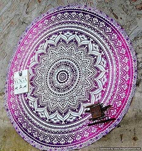 Handicrunch Marry Christmas Round Roundie Yoga Mat Indian ...