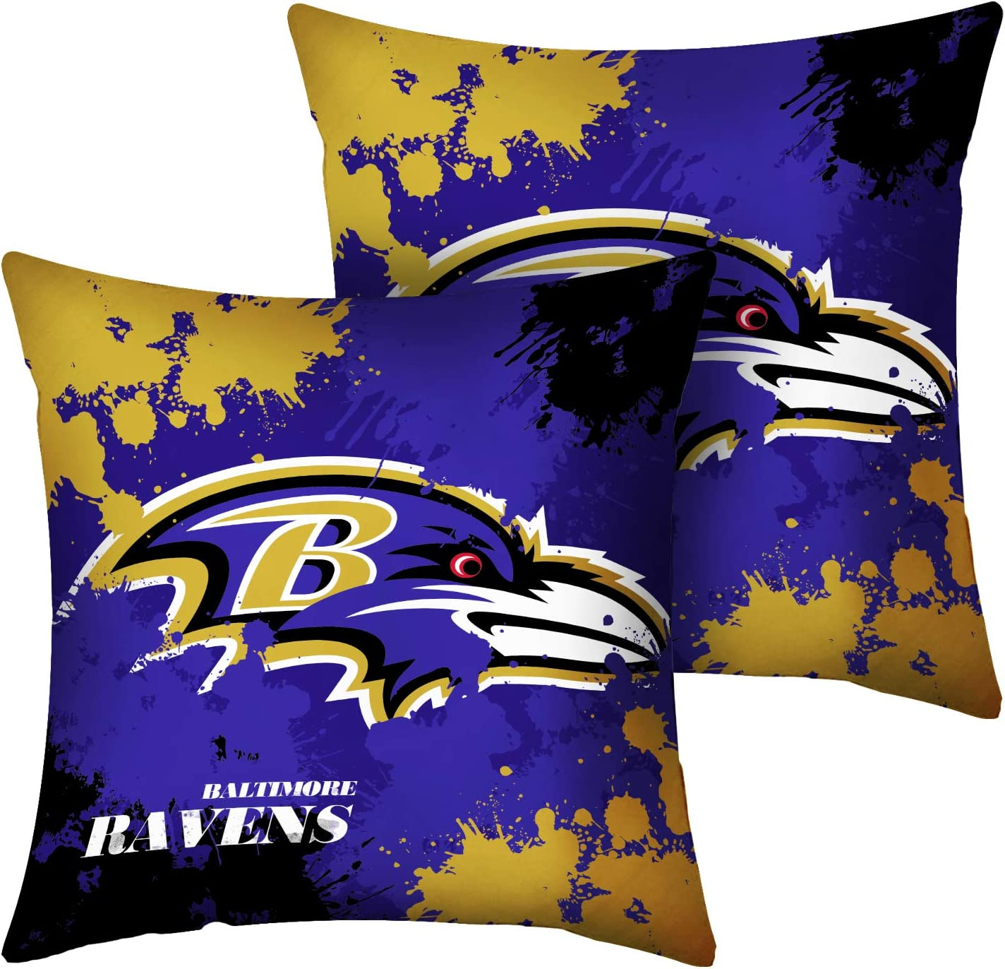 18 x 18, Green Bay Packers CANDICE Football Team Super Bowl Throw Pillow Covers Pillow Cases Decorative Pillowcase Protecter with Zipper 2 Pcs Without Insert