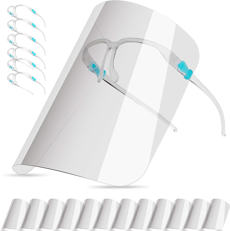 HELLOGIRL Fascia Elastica antiappannamento con visiera protettiva integrale USA e Getta con sostituzione Scudo 10 pezzi