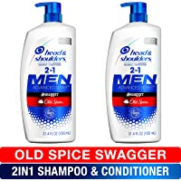 Head and Shoulders Shampoo and Conditioner 2 in 1, Anti Dandruff Treatment, Old Spice Swagger for Men, 31.4 fl oz, Twin…