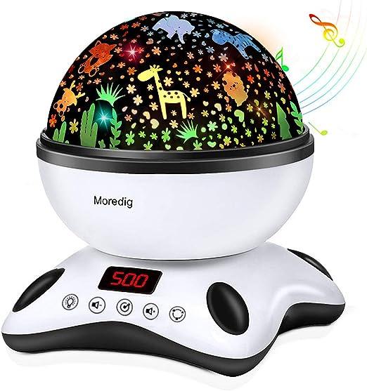 Veilleuse Musicale Multicolore Avec Projecteur D étoiles Mouvantes 4 Modes Alimentée Par Usb Pour Bébés Enfants Amazon Fr Luminaires Et Eclairage