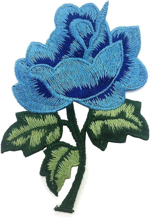 milopon Embroidery patchs correctifs broderie Badges coudre repasser sur sac de v/êtements chapeau applications Applique pour d/écor T-shirt Jeans Chapeau rose Rosa