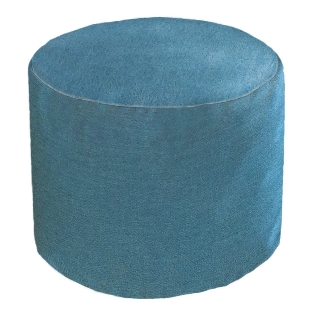 Core Covers Outdoor/Indoor Sunbrella Round Pouf, 22'', Cast Lagoon