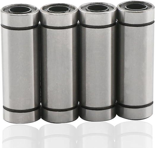 DROK® 4 Paquetes LM8LUU Cojinete de Bolas Lineal 8 x 15 x 45mm Cojinete Lineal de cojinete de Movimiento Lineal Conveniente para la Impresora 3D RepRap Prusa Mendel CNC DIY: Amazon.es: Deportes