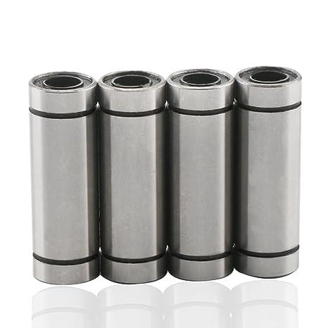 DROK reg; 4 paquetes LM8LUU Cojinete de bolas lineal 8 x 15 x 45mm ...