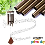 "UPmagic Wind Chimes Outdoor, 25"" Amazing Grace Wind Chimes with 6 Aluminum Tubes Musical Melody Wind Bell for Garden, Patio, Balcony, Indoor Decor with Beautiful Sound (Golden)"