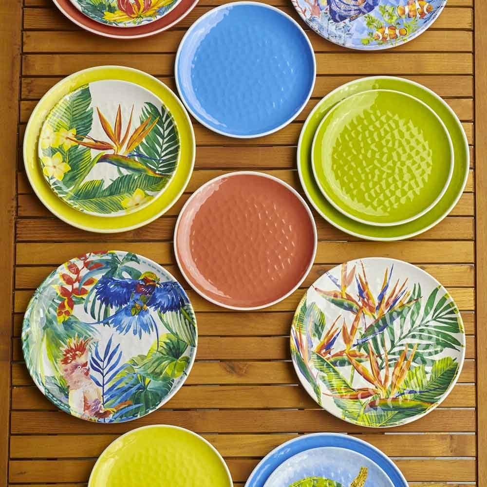 Les Jardins de la Comtesse Set de 2 Petites Assiettes en M/élamine Pure Jaune Aspect Martel/é Service de Table 23 cm Collection de Vaisselle Quasi-Incassable MelARTmine