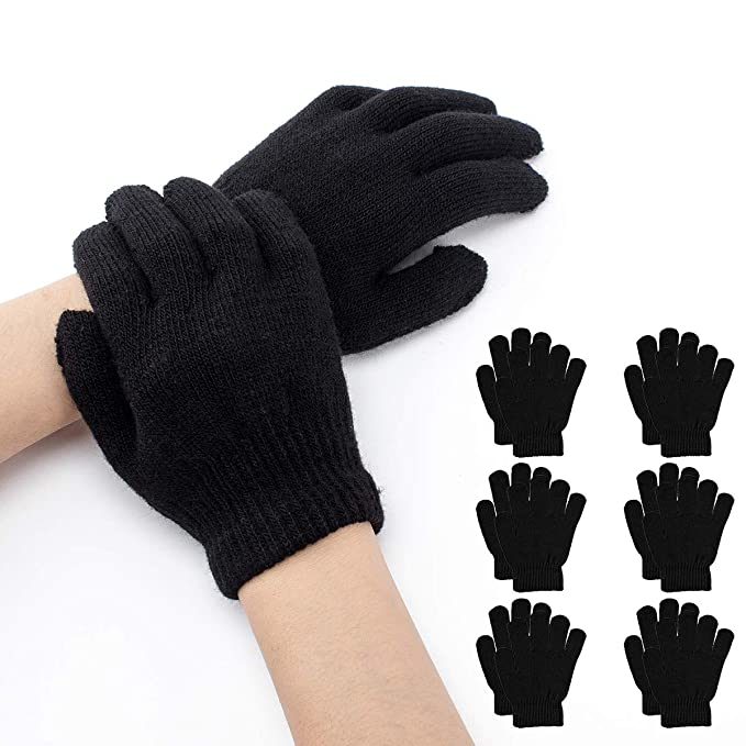 stable quality big discount fast delivery Cosweet 6 pairs Magic Gloves Warm Stretchy Toddler Winter Gloves Knit Full  Finger Gloves