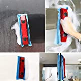 (4) natural rubber scraper Glass Cleaner Double-Sided Wipe Home High-Rise Glass Wipe Large Suction Window Artifact Wiper Cleaner