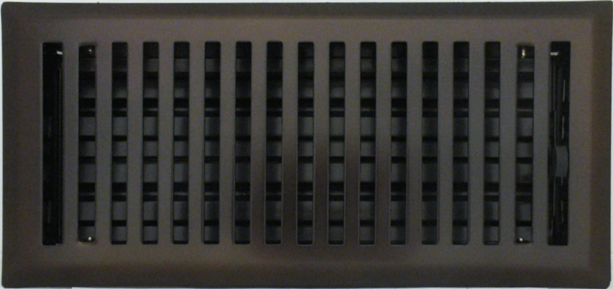 4'' x 10'' (5.25'' x 11.25'' Overall) Oil-Rubbed Bronze Contemporary Register with Damper (HVAC VENT COVER)