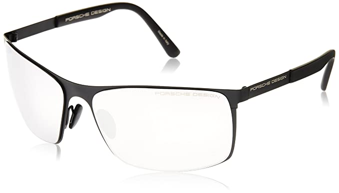 Porsche Design P8566 F Sonnenbrille - black / silver mirrored m5KycoDo