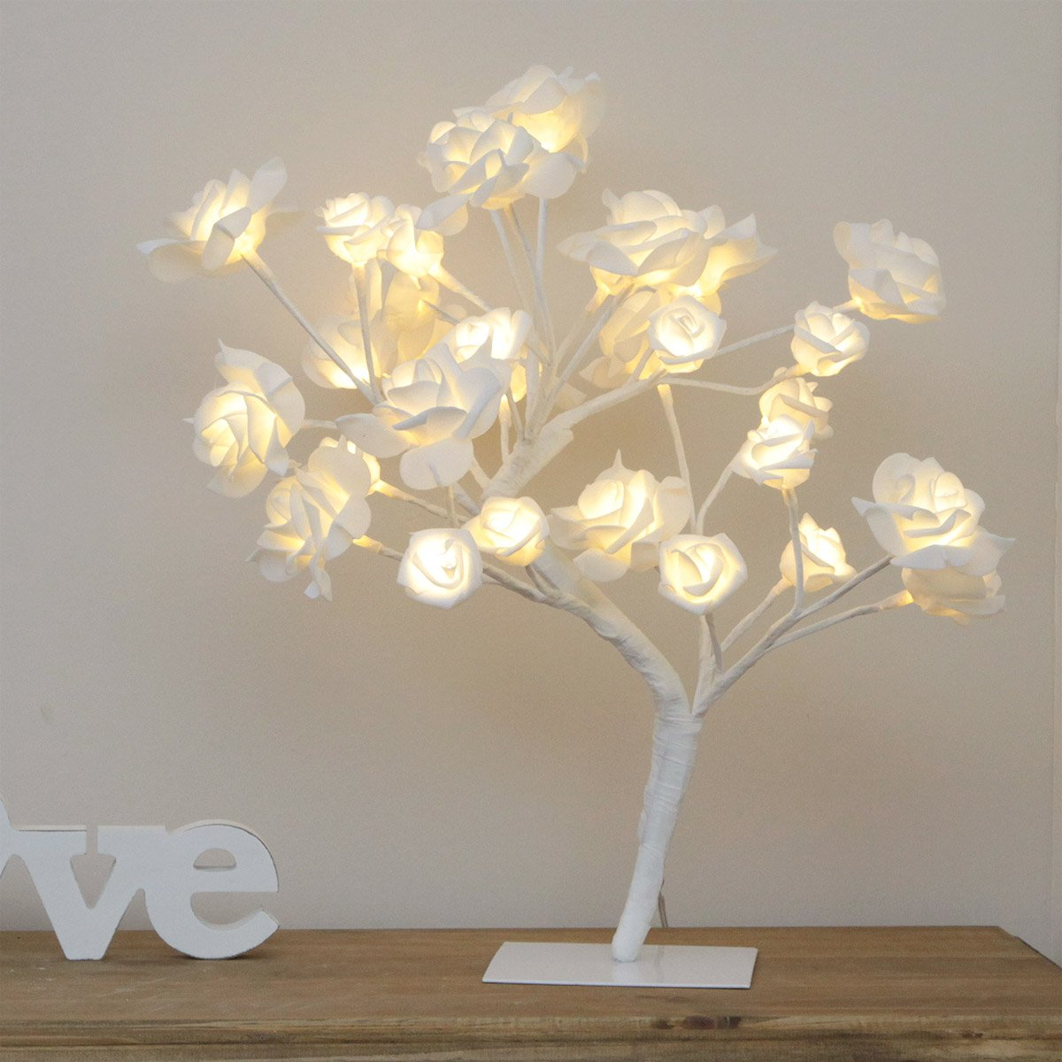 Artificial Rose Twig Tree - Pre Lit - Warm White LEDs - Low Voltage by Festive Lights