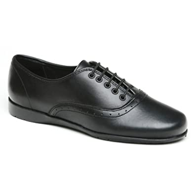 Amazon Com Toughees Eleanor Laceup Girls Leather School Shoe 14