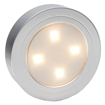 Cozlane Tap Light LED Coreless Push Puck Night Light Battery Operated Wall  Lamp Stick On Indoor