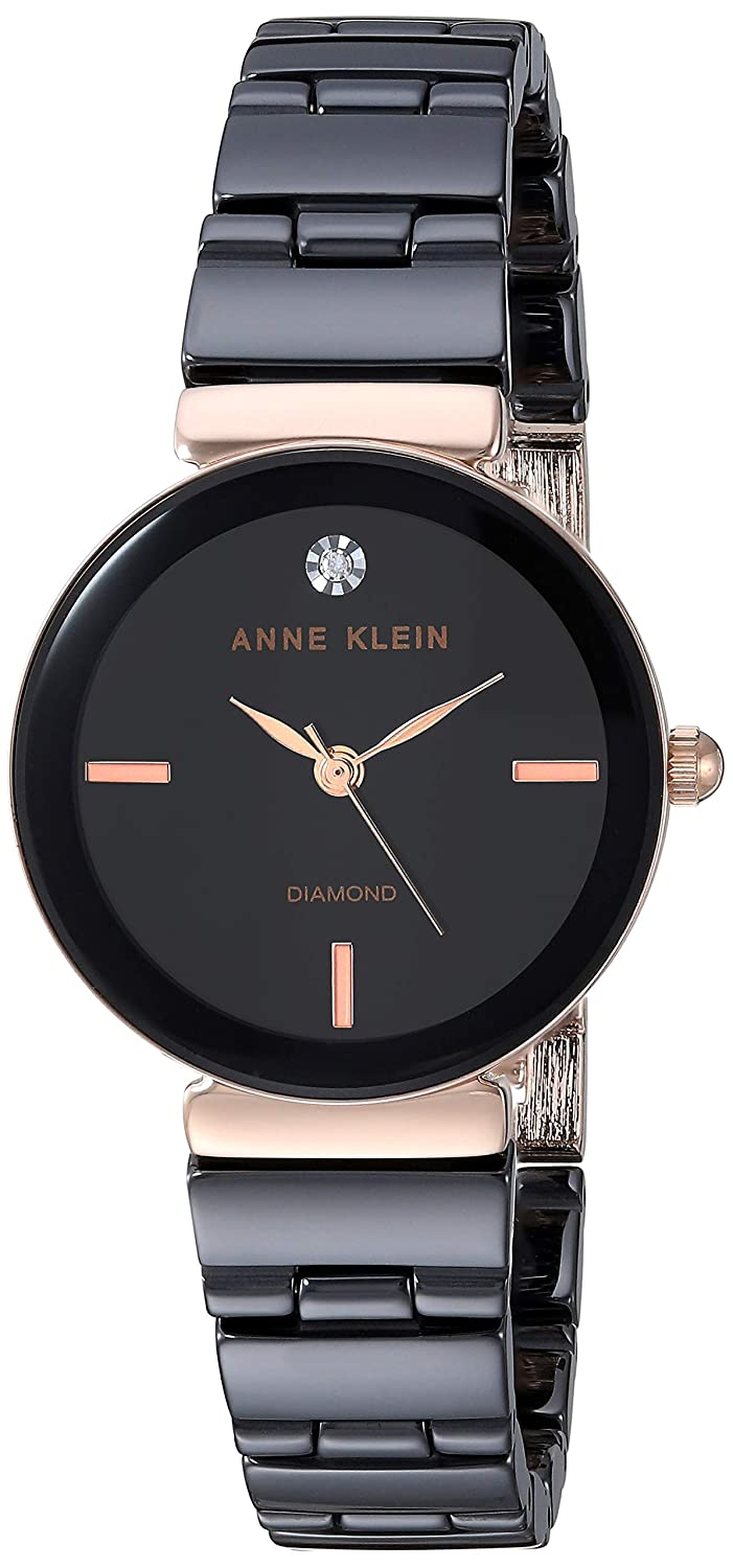 Anne Klein Women s Genuine Diamond Dial Ceramic Bracelet Watch