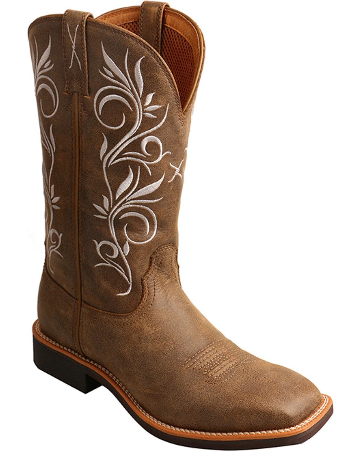 Twisted X Women's Top Hand Boot Square Toe - Wth0012 B06X9HR5VH 9 B(M) US|Bomber