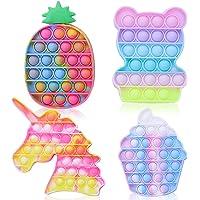 4 Pcs Push It Pop Fidget Bubble Sensory Toys, Autism Special Stress Needs Relief Silicone Pressure Relieving, Cheap…