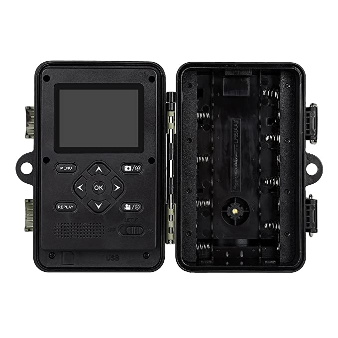 Boblov Cámara de Caza Vigilancia 16MP 1920x1080P 30fps HD 2.4 LCD Pantalla Trail Cámara con 42pcs IR LEDs Visión Nocturna Infrarroja IP66 Impermeable y ...
