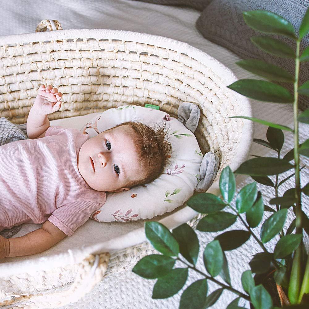 Lulando 5902659886118 Teddy Velvet Baby Kissen Gegen Kopfverformung Bei Babys Orthop/ädisches Kissen Kopfkissen Baby Plattkopf 100/% Baumwolle mehrfarbig Art Collection 200 g