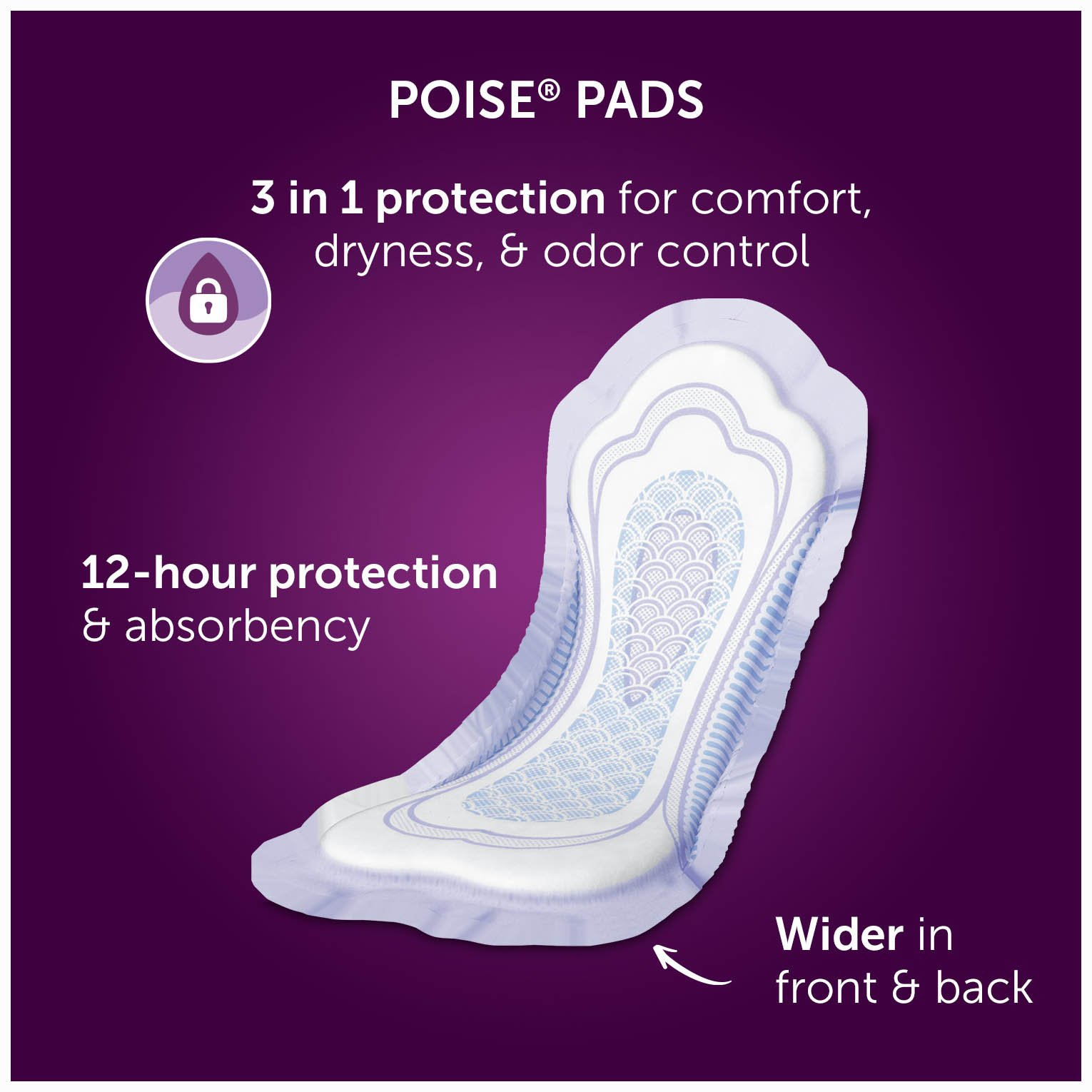 Poise Incontinence Pads, Maximum Absorbency, Long, 84 Count by Poise (Image #2)