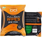 HyperGo Rinse-Free Hypoallergenic Biodegradable Bathing Wipes - All Natural Refreshing Wipe for Post Workout, Camping and Tra