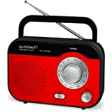 Sunstech RPS560RD - Radio de sobremesa AM / FM, altavoz, 800 mW RMS