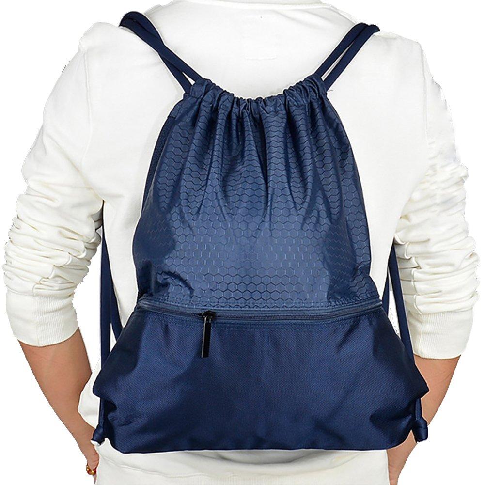 Savanaha Drawstring Backpack Waterproof Sackpack Double Sturdy Sports Backpack 2 Sizes