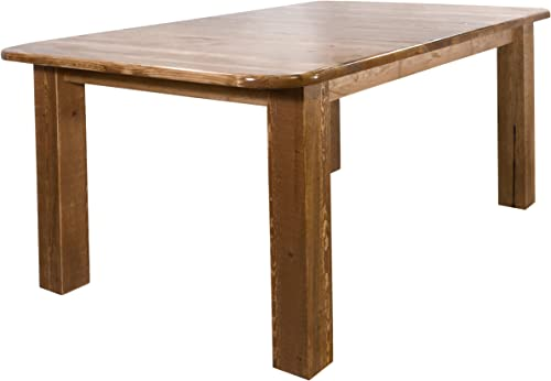 Montana Woodworks Homestead Collection 4-Post Dining Table with Two 18-Inch Leaves, Stain Lacquer Finish