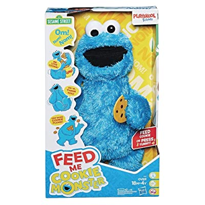 Hasbro Sesame Street Feed Me Cookie Monster Plush Toy Standard: Toys & Games