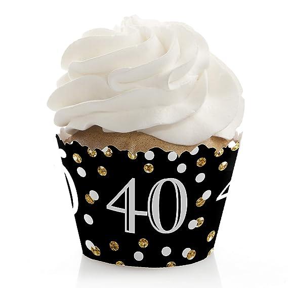 Amazon.com: Adulto 40 cumpleaños – dorado – fiesta de ...