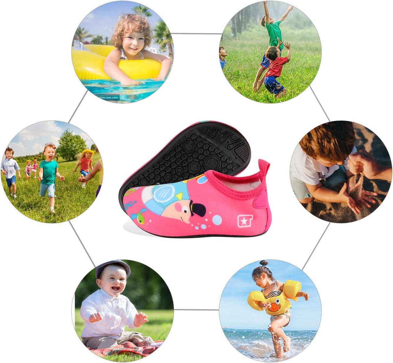 Zapatos de nataci/ón de Calcetines Aqua Swim Calzados Descalzos para Piscina de Playa TAGVO Zapatos de Agua Baby Girl Girl