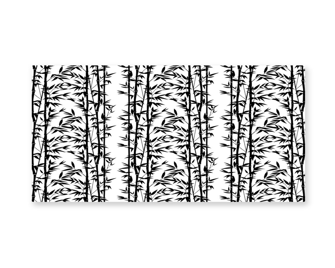 Lunarable Bamboo Wall Art, Monochrome Natural Inspirations with Bamboo Tree Growth Exotic Garden Zen Spa Art, Gloss Aluminium Modern Metal Artwork for Wall Decor, 23.5 W X 11.6 L Inches, Black White
