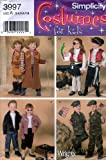 Simplicity Costumes (8 different) for Kids #3997(4918) Cowboy/Girl, Pirate Girl/Boy, 1950's Girl/Boy, Military Girl/Boy