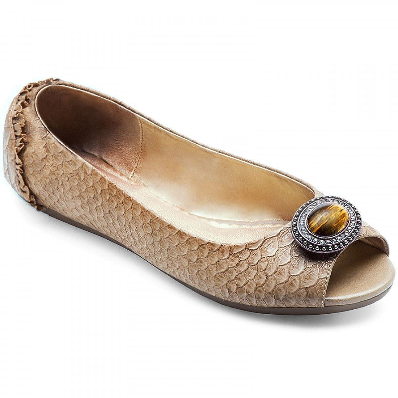 Lindsay Phillips Womens Kate Peep Toe Flat